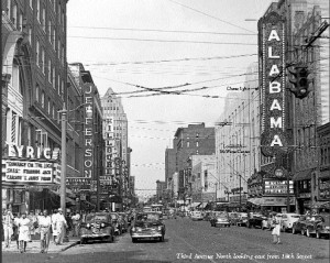 3rd Avenue North facing East with Alabama & Lyric Theatres