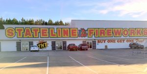 Two fireworks superstores on I-20 in Alabama near Georgia line; one on each side of Interstate